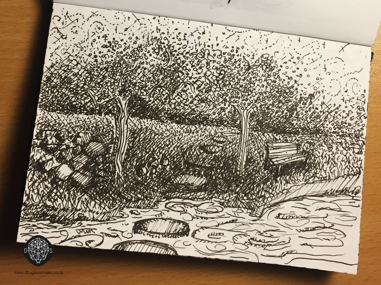 Day 23 – Draw a Garden – 25 Day Drawing Challenge | Douglas Simoes
